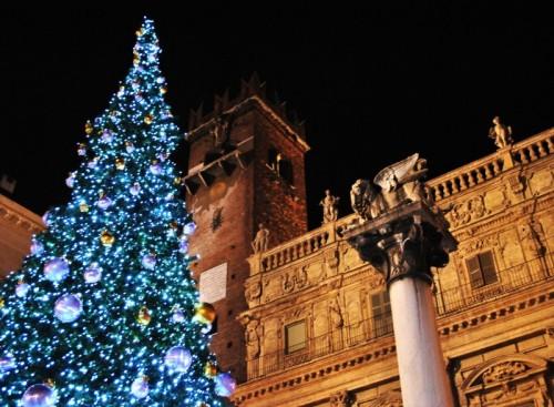 Verona - L'albero Natalizio di Piazza delle Erbe