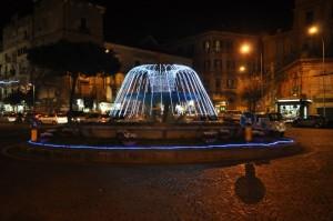 Una fontana di luci