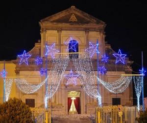 Il Duomo di Avellino conciato per le feste…di Natale!!!