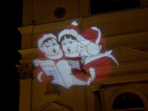 Settimo Torinese, chiesa di San Pietro in Vincoli, proiezione natalizia