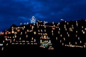 Il presepe luminoso di Manarola