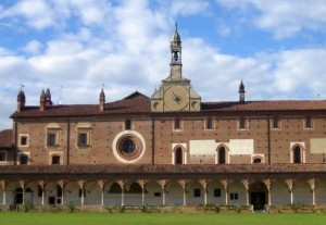 Monastero di Certosa di Pavia - la meridiana del il chiostro grande