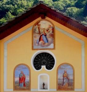 Il trittico di affreschi