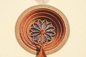 il rosone del Duomo di Pinerolo