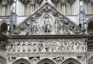 Giudizio Universale sul timpano Duomo Ferrara