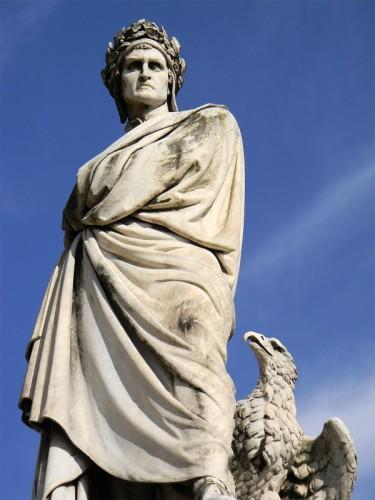 Firenze - Dante di marmo, poeta divino, mira sdegnato l'immane casino... (267)