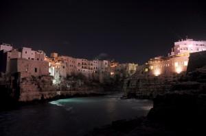 notturno della Cala di Polignano a Mare