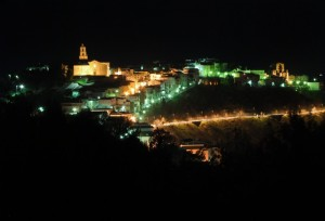 Grottole by night