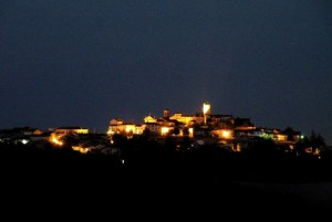 CONZANO - Scende la notte  sulle colline del Monferrato