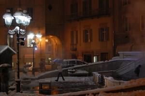 La Bollente sotto la neve