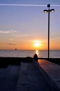 Il tramonto a Civitavecchia