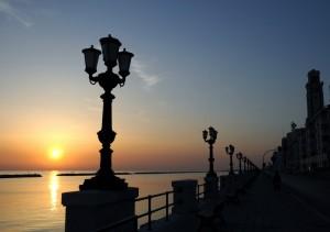 di disturbo sull'alba di Bari