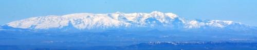 Rignano Garganico - La Maiella vista da Rignano Garganico (FG)