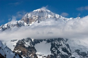 Nuvole sul Monte Bianco ( mt. 4.807,45)