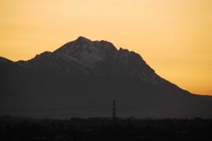 Il Gran Sasso al tramonto