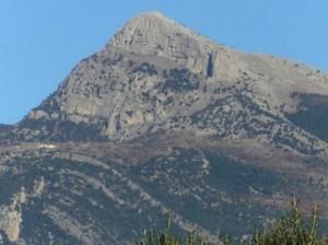 il volto della Madonna in cima a Cerchiara di Calabria