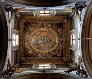 4 angeli intorno al soffitto della Chiesa del Purgatorio