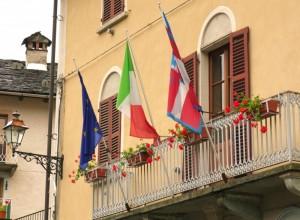 …tricolore sulla terrazza…