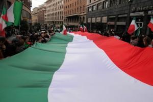 Tricolore fra le vie di Roma