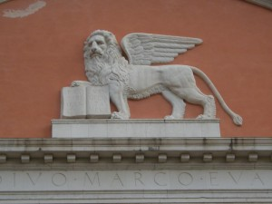 particolare della facciata della chiesa di San Marco, Rovereto