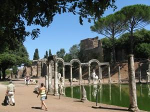 I giardini di villa Adriana a Tivoli.