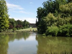 Il laghetto delle sirene al parco Sempione.