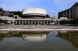 La piazza nella fontana….