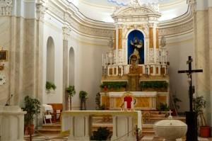 La chiesa parrocchiale a Stromboli