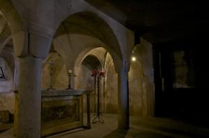 La cripta sotto la Chiesa di San Andrea apostolo