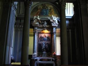 Un altare dell'Abbazia di Vallombrosa