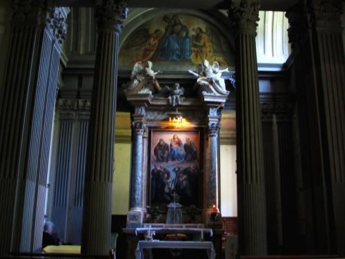 Reggello - Un altare dell'Abbazia di Vallombrosa