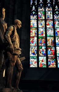 San Bartolomeo - e la vetrata colorata -