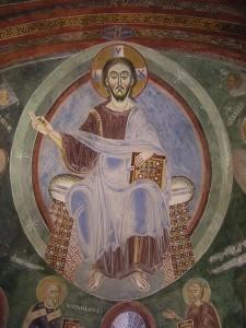 Novalesa, cappella S. Eldrado, Cristo Pantocratore