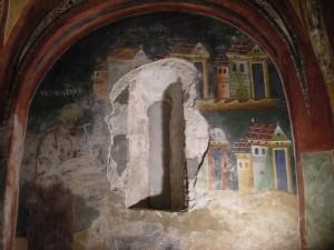 Novalesa, affresco della cappella di S. Eldrado