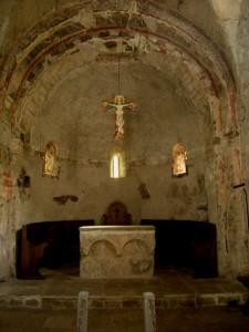 Novalesa, abside della cappella di San Salvatore