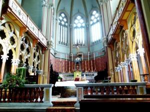 L'abside con Altare Maggiore della Chiesa Santa Maria della Pieve