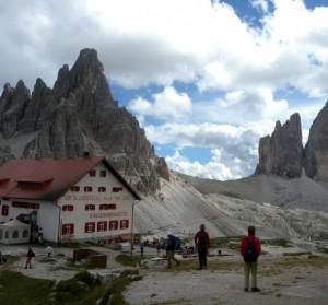 Il rifugio Locatelli