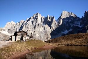 La Baita Segantini, il Laghetto e le Pale