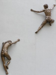 free-climbing