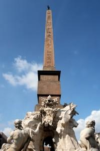 L'obelisco della fontana