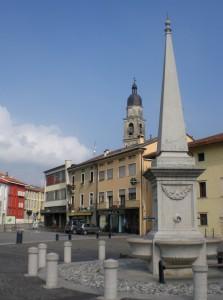 la fontana con l'obelisco