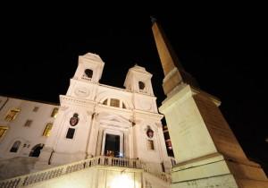 Trinità dei Monti - Obelisco notturno
