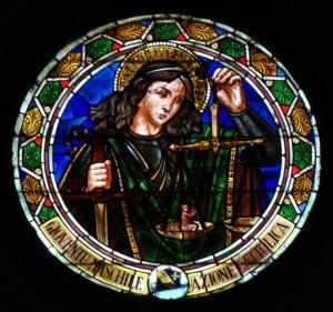 La vetrata di San Michele Arcangelo