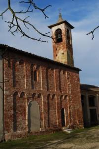 Campanile di una delle più antiche chiese plebane della lomellina