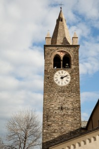 Campanile della Chiesa  di S. Eusebio al Villair di Quart