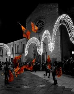 Bandiere volanti in onore di S. Francesco Antonio Fasani