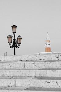 La scala e il campanile di San Marco