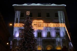 Il Palazzo Fendi a Natale si illumina