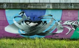 Colori su un grigio ponte
