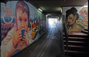 Murales Sottopasso Via Arginone